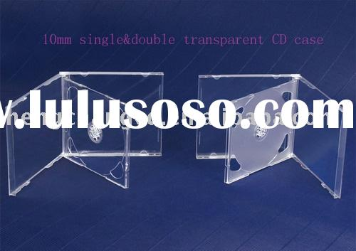 10mm single&double clear CD case/cd holder/plastic cd case