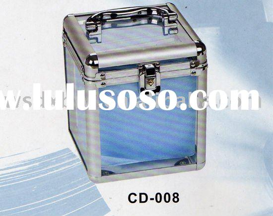 Acrylic Aluminum CD DVD case box cabinet