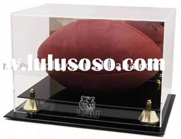 Collectible NFL - NCAA Size Deluxe UV Acrylic Football Holder Display Case