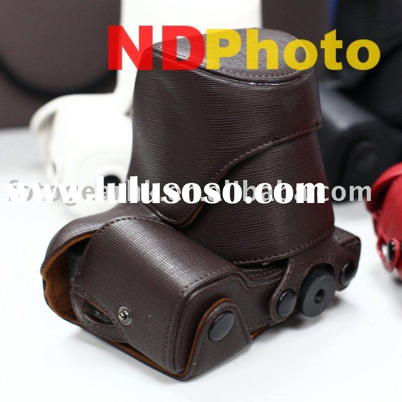 Digital Camera Accessory Leather Case Bag Pouch fr Sony NEX-5 E 18-55mm F3.5-5.6