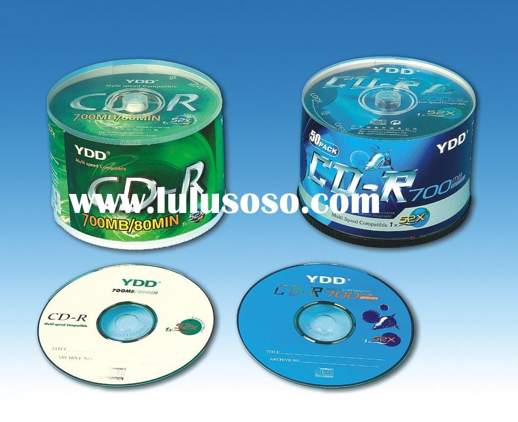PRINTED CD-R/BLANK CD IN CAKE BOX PACK WITH COLOUR LABEL(YD-006)