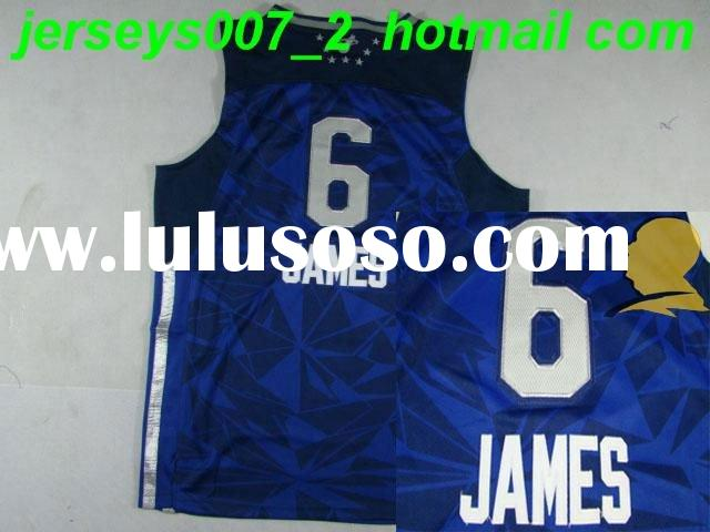 Retail Wholesale Basketball Miami Heat 6 Lebron James  2011 All Star Authentic Blue Jersey