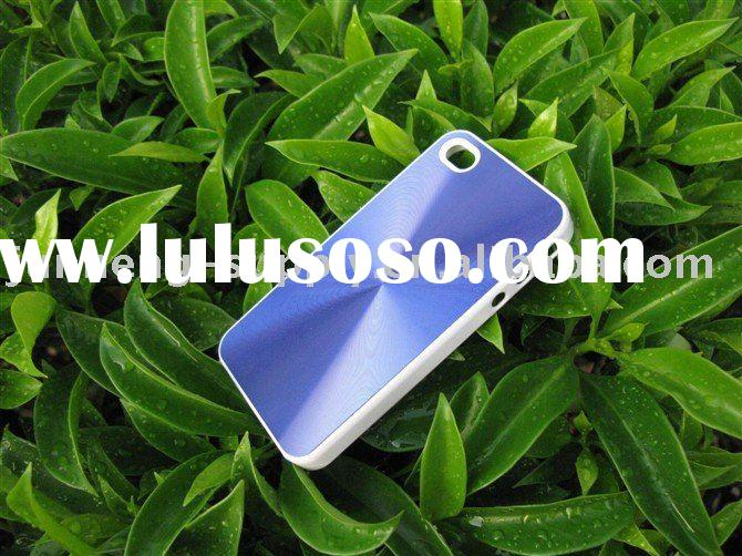 Shiny CD pattern metal case for iphone 4 with aluminum and PC