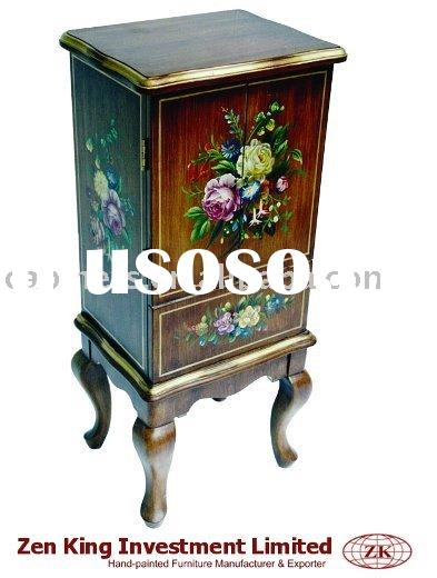 Victorian Style Wooden Jewelry Cabinet