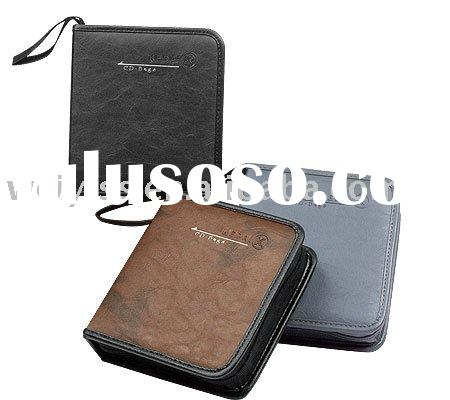 elegant leather CD case/ CD holder