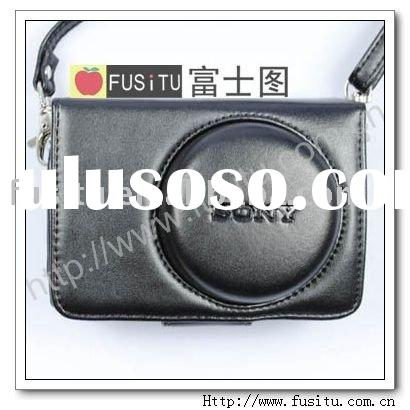 pu Leather Camera Case Bag for SONY CyberShot DSC-H20