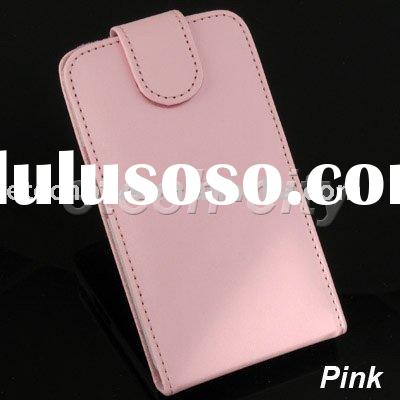 Pink Elegant Leather Case for HTC HD2 LEO T8585 (Flip Type)