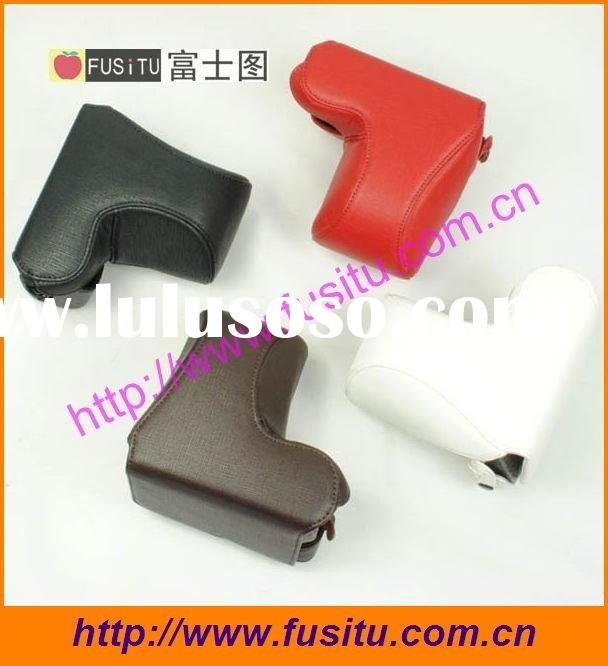 Pu camera case pouch for sony  NEX-5C black brown red white