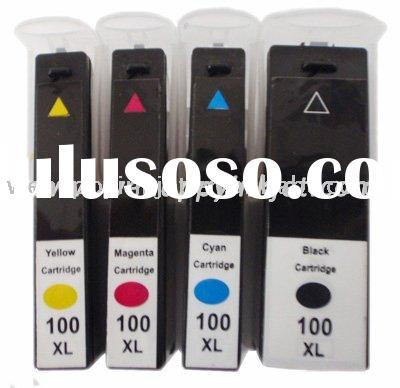 Remanufactured lexmark inkjet cartridge Lexmark 100 XL ink cartridge