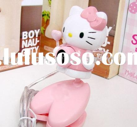 pink Hello KITTY USB WEBCAM PC CAMERA for skype msn icq HELLO KITTY webcam