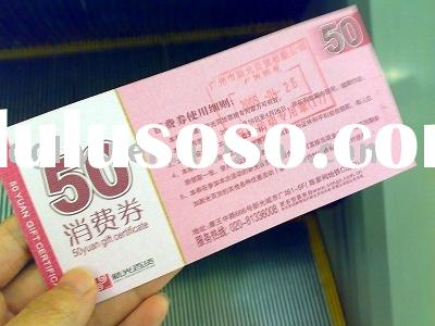 security coupon(anti-counterfeiting ticket,security coupon with water mark)