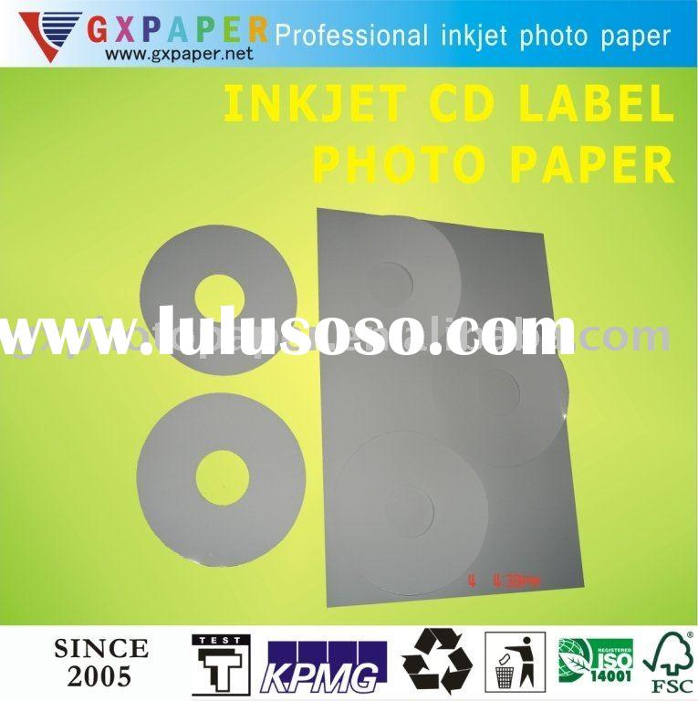 128G Glossy Self-adhesive DVD/CD Label Photo Paper ,  Professional Manufacturer