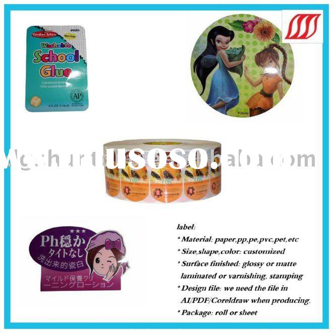 2011-HOT promotion printing adhesive Label