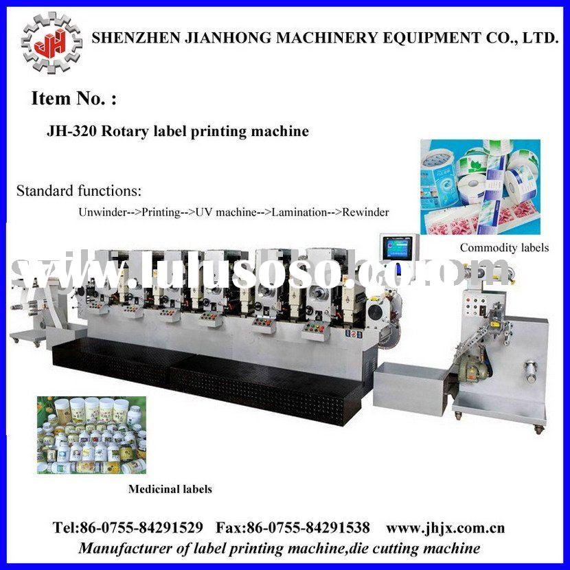 Automatic rotary adhesive label sticker printing machine