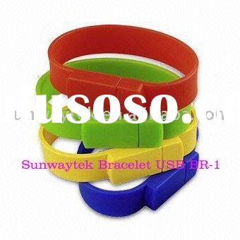 Colorful 2gb bracelet USB flash pen drives(free pen drive)