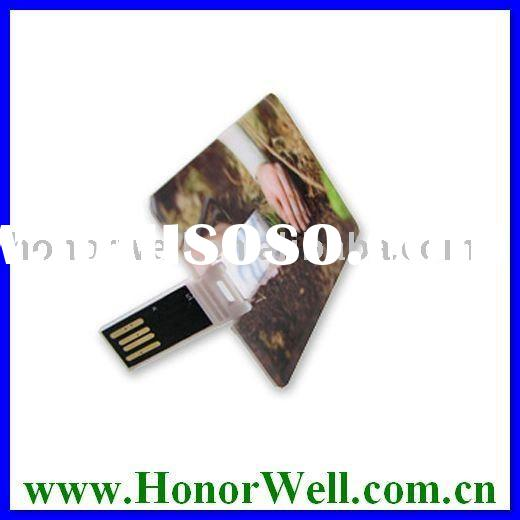 Oem Plastic Thin Business Credit Card Usb Pen Drive