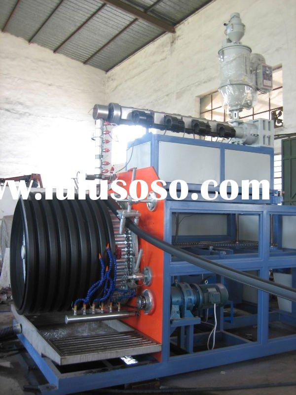 PE Large Diameter Hollowness Wall Winding Pipe Plastic Machinery Production Line