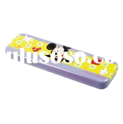 Single Layer Cartoon Students Tin Pencil Case