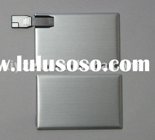 Thin Credit card USB flash drive,Metal Card Pen drive
