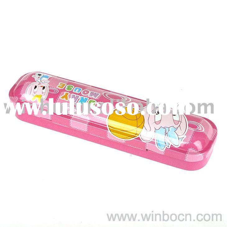 Two-layer Kids Tin cartoon students promotional  Pencil Cases