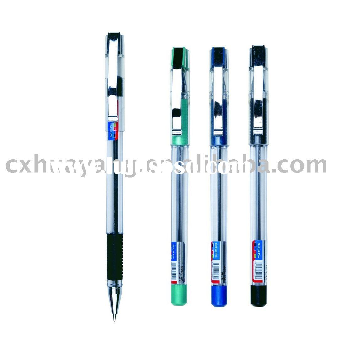 gel pen / steel clip / school office use/ GP-1001