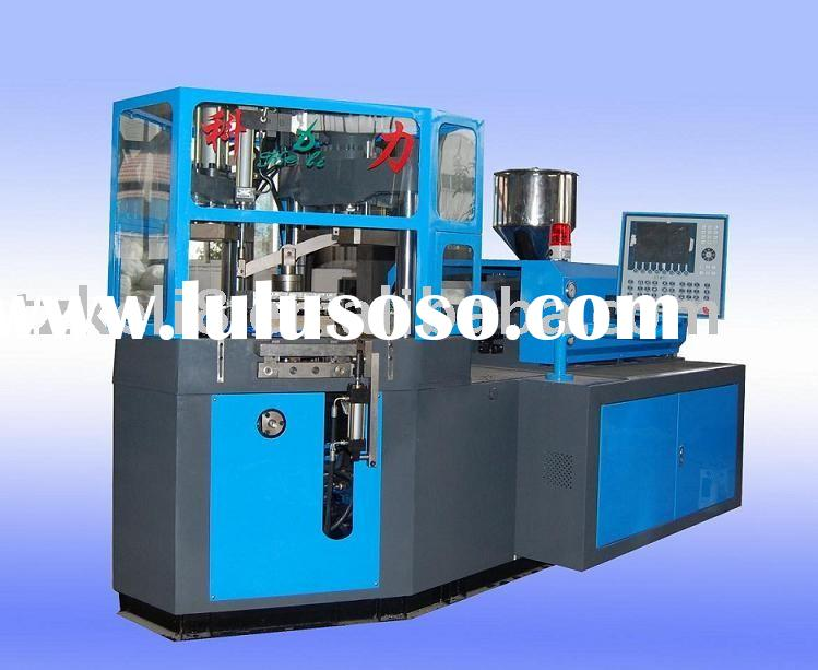 injection blowing machine for moulding plastic bottles