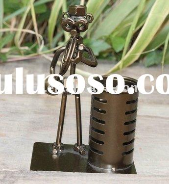 metal craft music figurines with pen holder