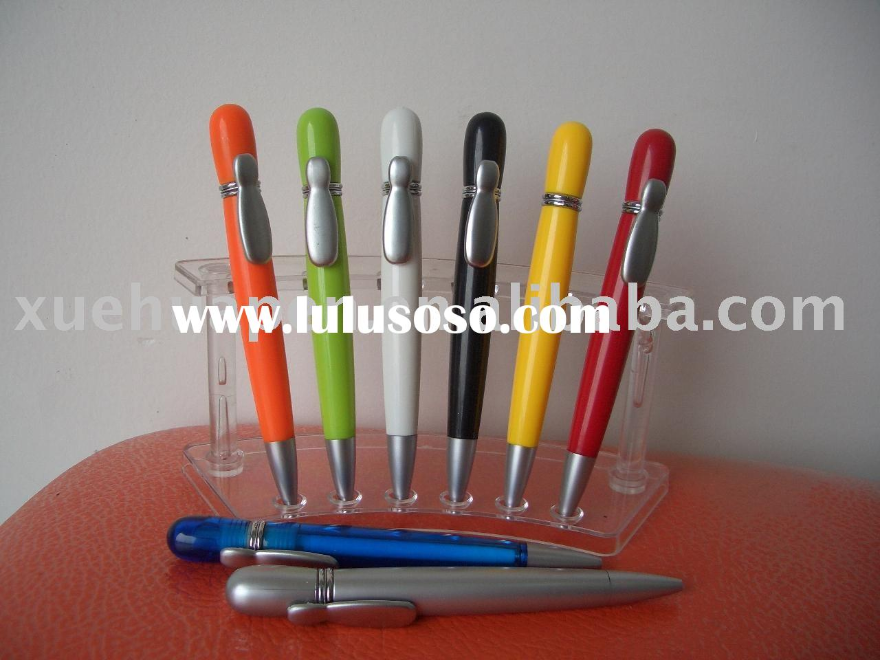 special clip ball pen, novelty plastic ball pen