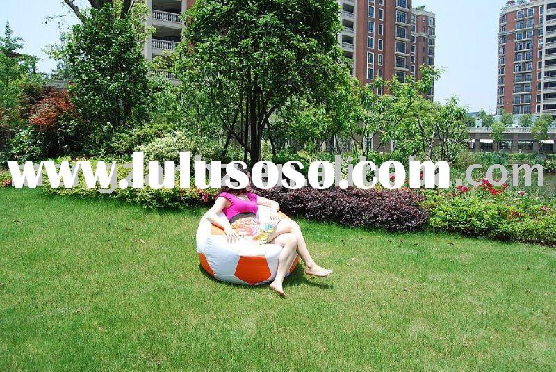 water-repellent polyester soccer beanbag chair also as sitzsack for indoor and outdoor use