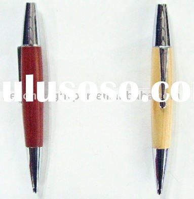 wooden metal ball pen