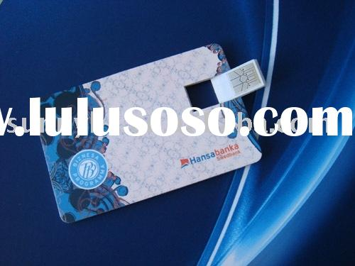 Card USB,credit card shape USB drive,card shape usb with offset pringting