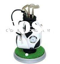 golf  gift golf bag shaped pen holder