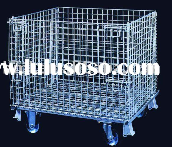 Wire Mesh Basket, Stackable Container, Mesh Box, Storage Cage