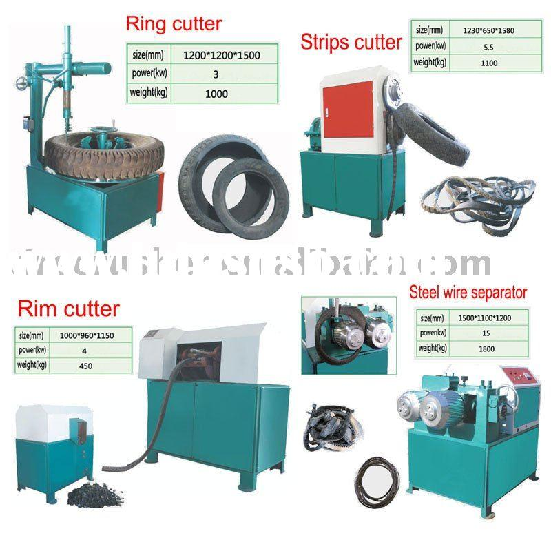 used tire shredder equipment