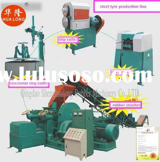 used tire shredder waste tire recycling machine