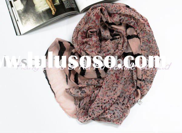 2011 Asia hot leopard voile scarf summer shawls