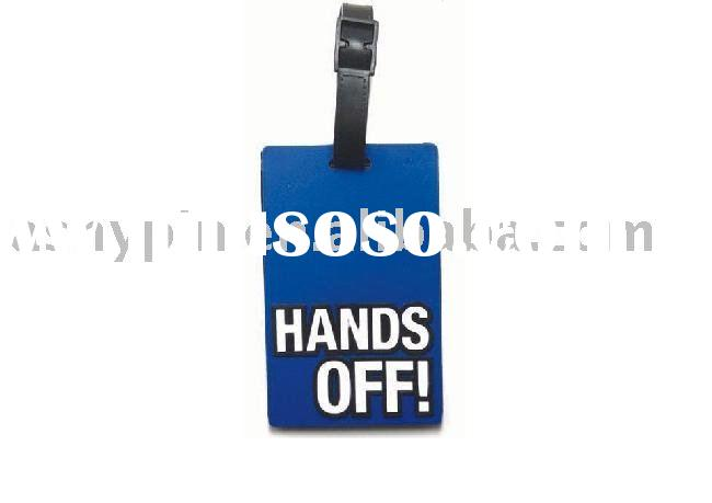 3d pvc luggage tag, rubber name tag