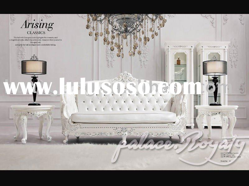 Baroque style traditional Italy leather sofa sets.