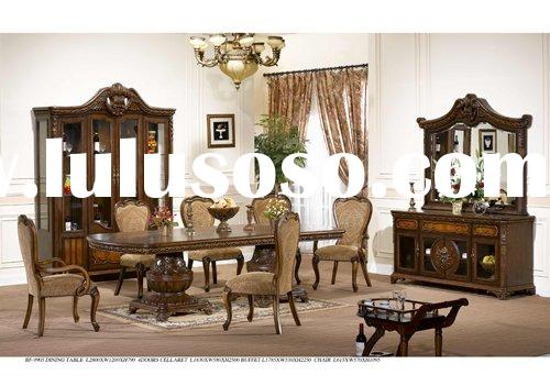 Classical dining room furniture,antique dining table,antique dining chairs