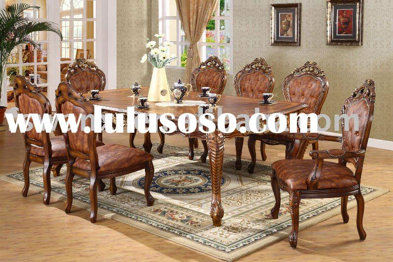 Classical style Hand carved dining table sets