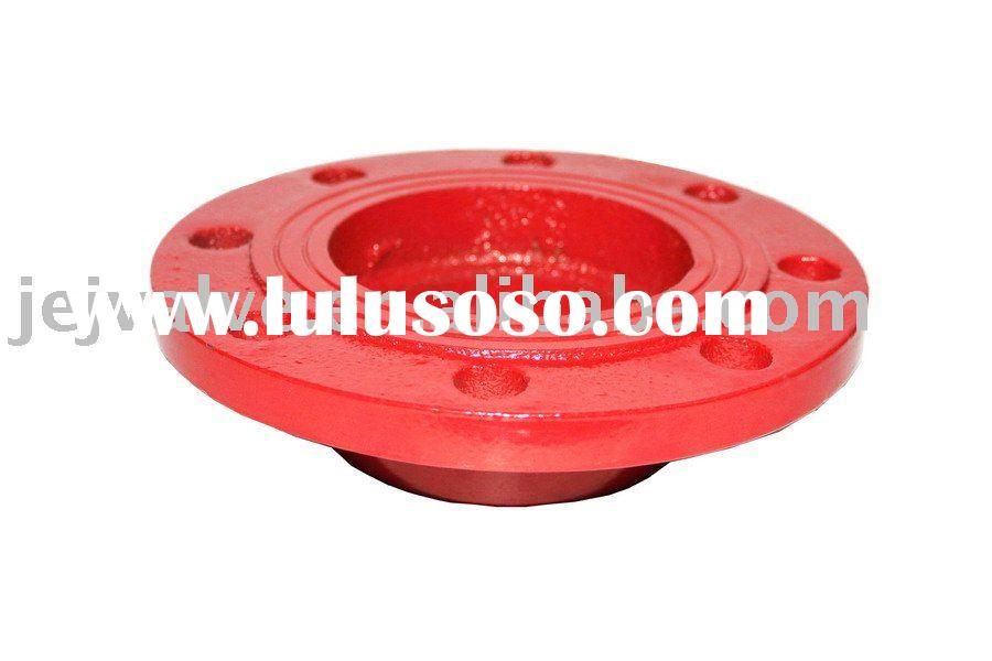 Ductile Iron grooved pipe fitting flange