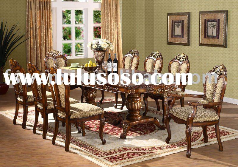 Hand carved dining table sets