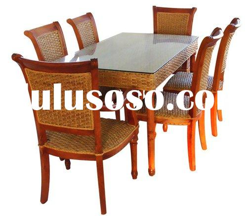 Hyacinth furniture,dining table set,dining chairs