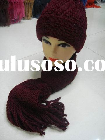 Knitted Hat Scarf  Set