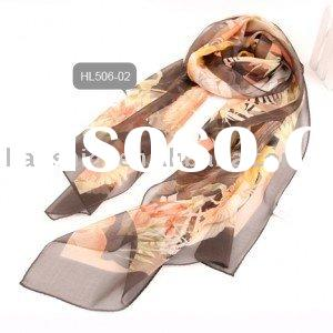 Ladies Printed Popular  Silk Scarf and Shawl