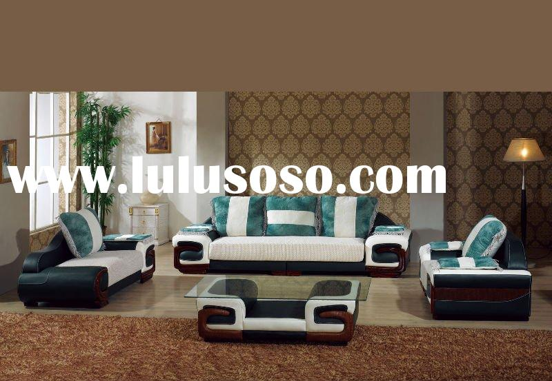 Living Room Modern Leather Sofa Set