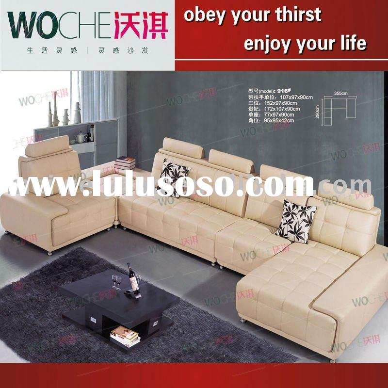 New design living room furniture leather sofa set(MJ6813)