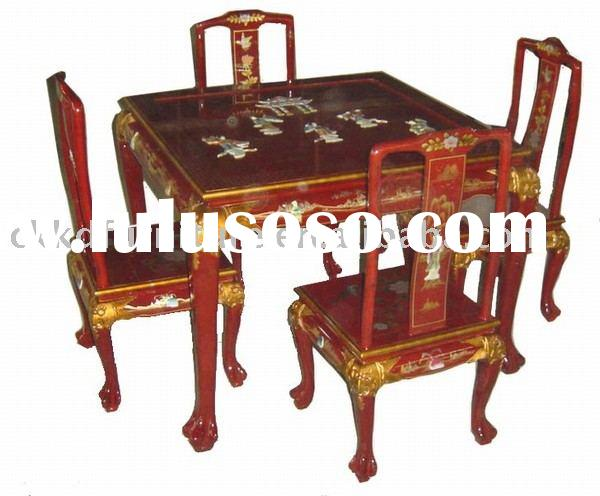 Dining room sets with clear acrylic dining talbe and chair for Oriental dining room furniture for sale