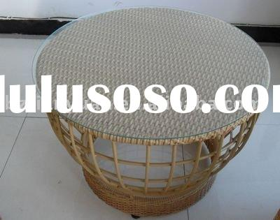 PE rattan antique dining room tables