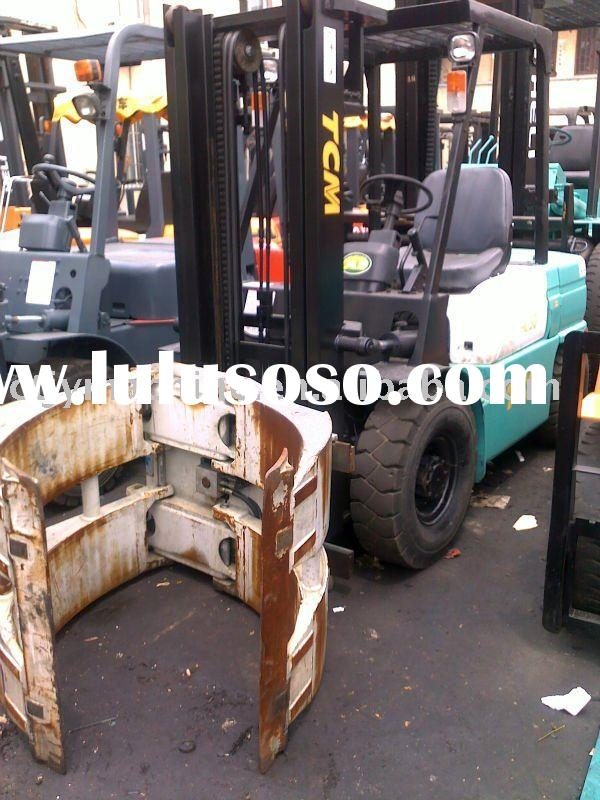 Used TCM 3 ton forklift truck ( fork lift trucks ) with clamp
